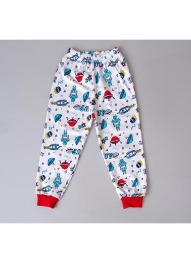 POKY Çocuk Pijama Takımı 3-6 Yaş Çıtçıtlı Uzun Kol Karışık Renk Ve Desenli Kırmızı
